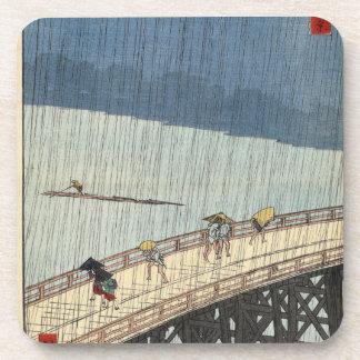 Sudden shower over Shin-Ōhashi bridge and Atake Coaster