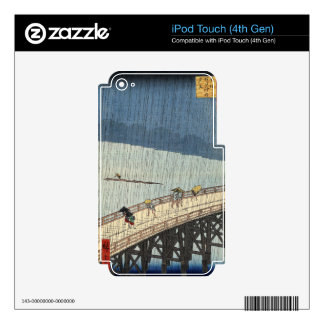 Sudden shower over Shin-Ōhashi bridge and Atake Decal For iPod Touch 4G
