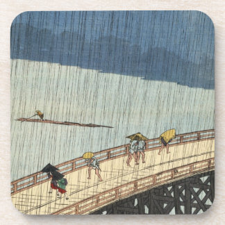 Sudden Shower over Shin-Ōhashi bridge and Atake (大 Drink Coaster