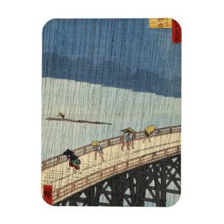 Sudden Shower over Shin-Ōhashi bridge and Atake (大 Vinyl Magnet