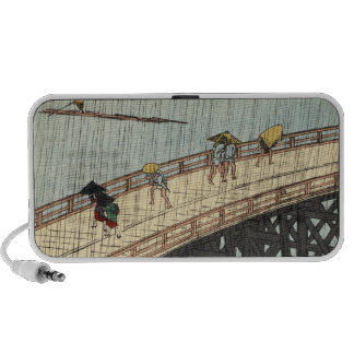 Sudden Shower over Shin-Ōhashi bridge and Atake (大 iPhone Speakers