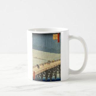 Sudden shower over Shin-Ōhashi bridge and Atake Coffee Mug