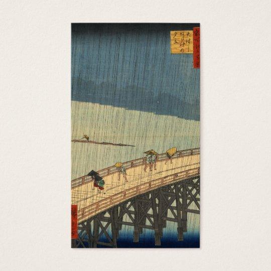 Sudden shower over Shin-Ōhashi bridge, Hiroshige Business Card