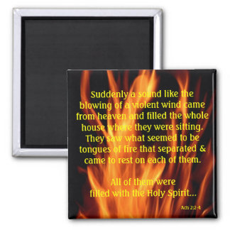 Suddenly a sound like the blowing wind... 2 inch square magnet