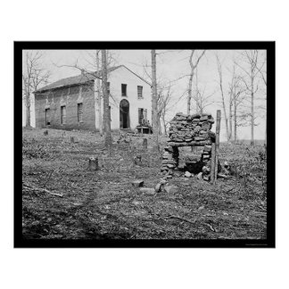 Sudley Church in Bull Run VA 1862 Print
