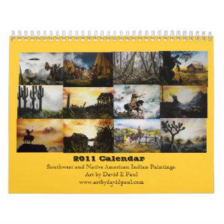 Sudoeste 2011 y arte del indio del nativo calendarios