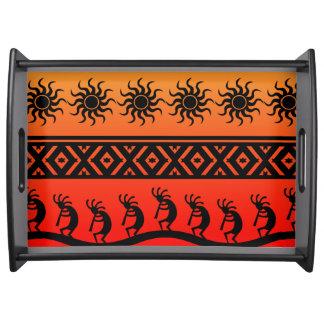 Sudoeste tribal de Sun Kokopelli del desierto Bandejas