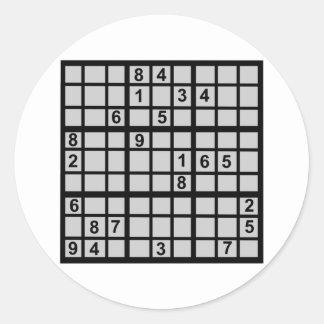 Sudoku - Brainteaser Classic Round Sticker