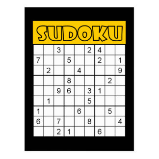 Sudoku Card Postcard