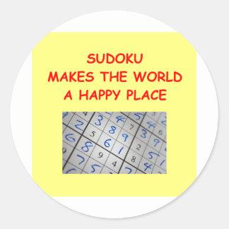 sudoku classic round sticker