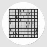 Sudoku - enigma pegatina redonda