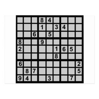 Sudoku - enigma tarjeta postal