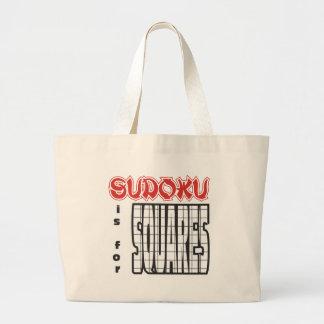 Sudoku está para los cuadrados bolsa tela grande