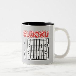 Sudoku está para los cuadrados tazas de café