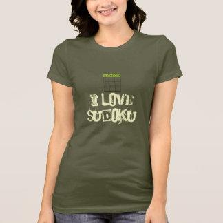 sudoku green, i love sudoku tshirt
