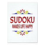 Sudoku hace vida feliz invitación 13,9 x 19,0 cm