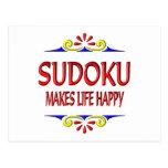 Sudoku hace vida feliz postales