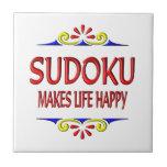 Sudoku hace vida feliz teja  ceramica