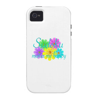 Sudoku Happiness Flowers iPhone 4 Covers