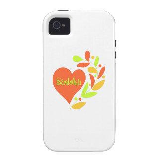 Sudoku Heart Case-Mate iPhone 4 Covers