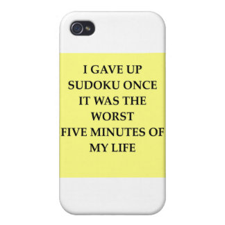 SUDOKU.jpg iPhone 4 Cover