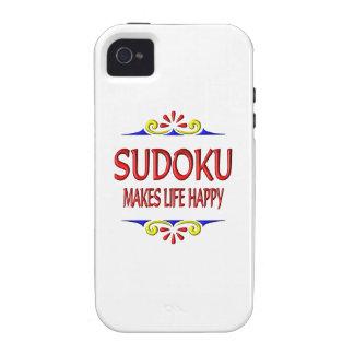 Sudoku Makes Life Happy iPhone 4/4S Cases