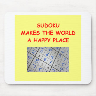 sudoku mouse pad