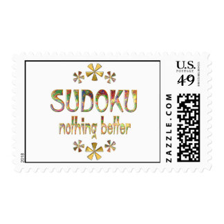 SUDOKU Nothing Better. Postage Stamp