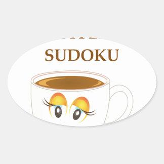 SUDOKU OVAL STICKER