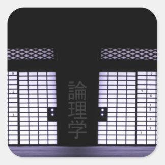Sudoku Paper Windows Square Sticker