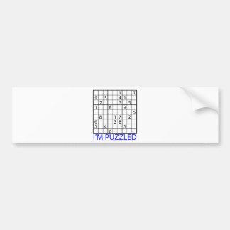 Sudoku Puzzle Bumper Sticker