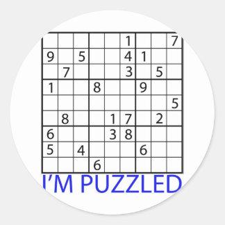 Sudoku Puzzle Classic Round Sticker