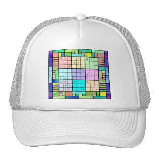 Sudoku Stained Glass Design Hats