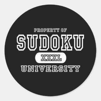 Sudoku University Dark Classic Round Sticker
