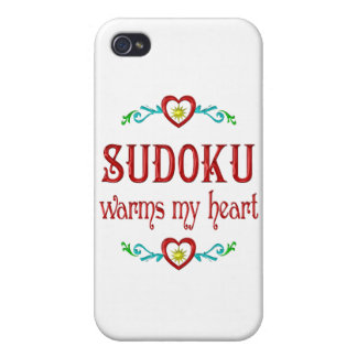 Sudoku Warms My Heart Cases For iPhone 4