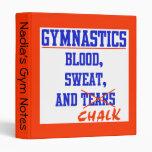 Sudor de la sangre de la gimnasia y carpeta de la
