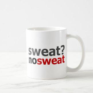 ¿Sudor?  Ningún sudor Tazas De Café