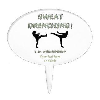¡Sudor que moja Kickboxing! es una subestimación Decoración De Tarta