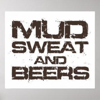 Sudor y cervezas del fango póster