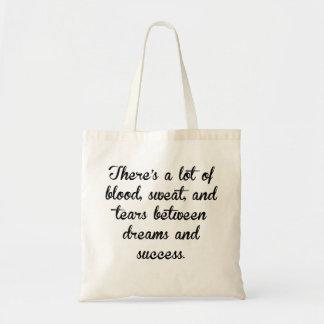 Sudor y rasgones de la sangre bolsa tela barata