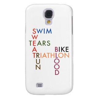 Sudor y rasgones de la sangre del Triathlon Funda Para Galaxy S4
