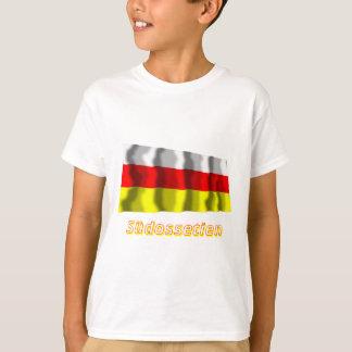 Südossetien Fliegende Flagge mit Namen T-Shirt