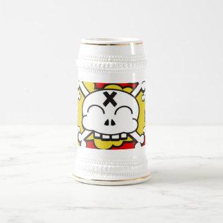 suds amarillos skully jarra de cerveza