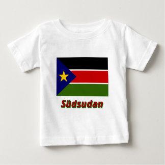 Südsudan Flagge mit Namen Baby T-Shirt