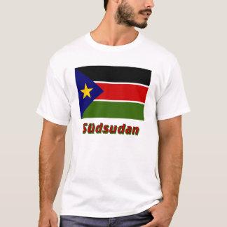 Südsudan Flagge mit Namen T-Shirt
