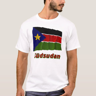 Südsudan Fliegende Flagge mit Namen T-Shirt