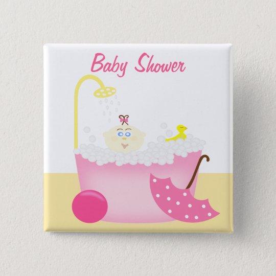 Sudsy Bathtub Pink Baby Girl Shower Pin