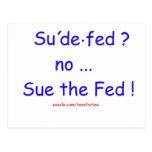 Sue el FED Tarjetas Postales