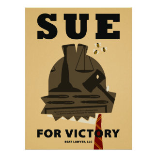"""""""Sue for Victory"""" Poster"""