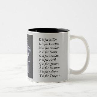 Sue_Grafton_Black, Two-Tone Coffee Mug